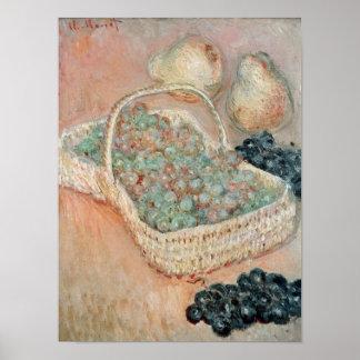 Claude Monet | le panier des raisins, 1884 Poster