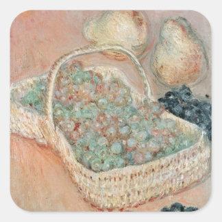Claude Monet | le panier des raisins, 1884 Sticker Carré