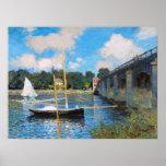 Claude Monet : Le pont à Argenteuil Affiche