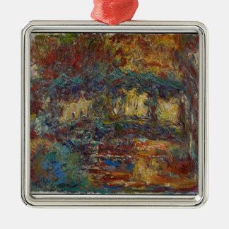 Claude Monet | le pont japonais Ornement Carré Argenté