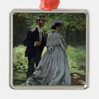 Claude Monet | les auditeurs d'un Ornement Carré Argenté