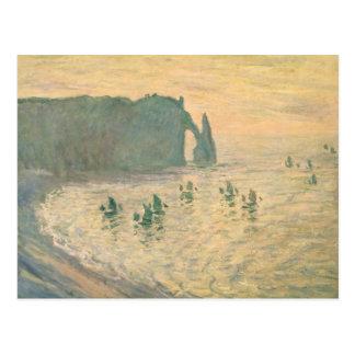 Claude Monet | les falaises chez Etretat, 1886 Carte Postale