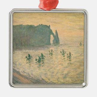 Claude Monet | les falaises chez Etretat, 1886 Ornement Carré Argenté