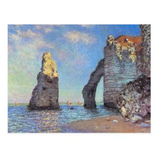 Claude Monet //les falaises chez Etretat Carte Postale