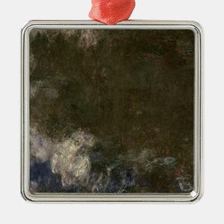 Claude Monet | les nénuphars les nuages, 1914-18 Ornement Carré Argenté