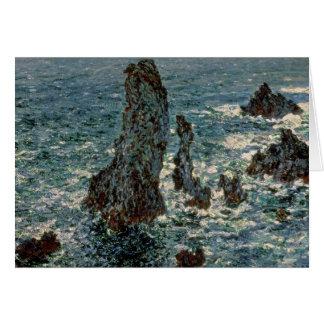 Claude Monet | les roches au Belle-Ile, 1886 Carte De Vœux