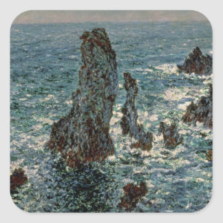 Claude Monet | les roches au Belle-Ile, 1886 Sticker Carré