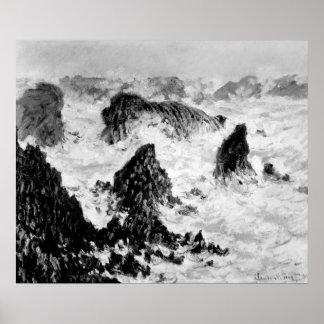 Claude Monet | les roches du Belle-Ile, 1886 Posters