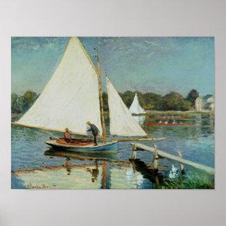 Claude Monet | naviguant à Argenteuil, c.1874 Poster