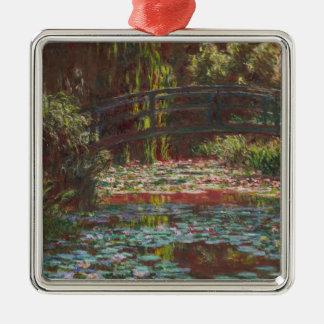 Claude Monet Ornement Carré Argenté