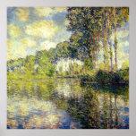 Claude Monet - peupliers sur l'Epte Affiche