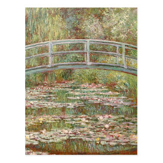 Claude Monet - pont au-dessus d'un étang des Carte Postale