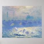 Claude Monet - pont de Waterloo Affiche