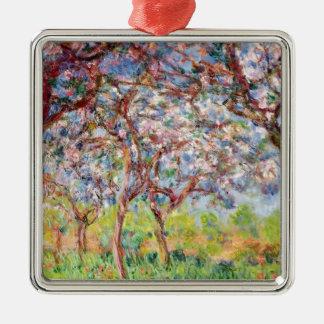 Claude Monet | Printemps Giverny, 1903 Ornement Carré Argenté