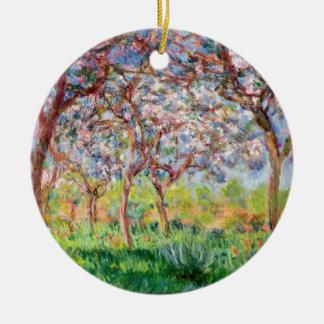 Claude Monet | Printemps un Giverny Ornement Rond En Céramique
