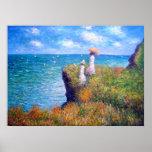 Claude Monet : Promenade de falaise chez Pourville Poster