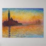 Claude Monet - San Giorgio Maggiore au crépuscule Affiches