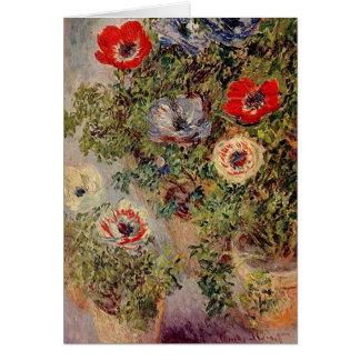 Claude Monet - Stilllife avec Anemonies Carte De Vœux