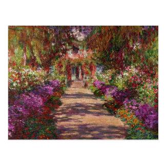 Claude Monet   une voie dans le jardin de Monet Carte Postale