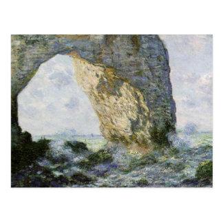 Claude Monet - voûte de roche Carte Postale