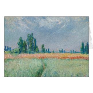 Claude Monet - Wheatfield Carte De Vœux