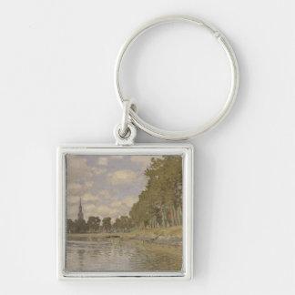 Claude Monet | Zaandam 1871 Porte-clé Carré Argenté
