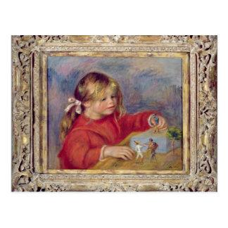Claude Renoir au jeu, c.1905 Carte Postale