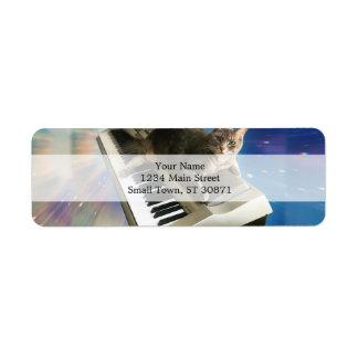 clavier de chat étiquette d'adresse retour