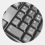 Clavier d'ordinateur autocollants ronds