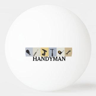 Clé d'ampoule d'outils de travail des hommes de balle de ping pong