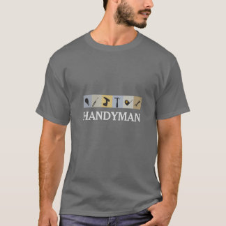 Clé d'ampoule d'outils de travail des hommes de t-shirt