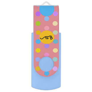 "Clé USB 2.0 Swivel Flash Drive ""Flowers"""