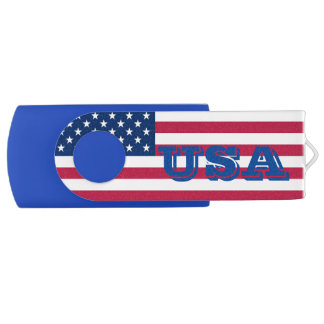 "Clé USB 2.0 Swivel ""USA"""