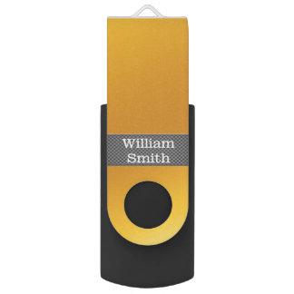 Clé USB Affaires de luxe d'or et de carbone