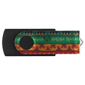 Clé USB Africain coloré aucune typographie d'inquiétudes