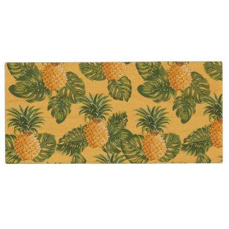 Clé USB Ananas et feuille tropical sur l'or