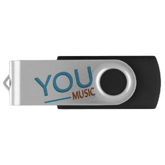 Clé USB Argent, noir (commande d'instantané d'usb) - vous