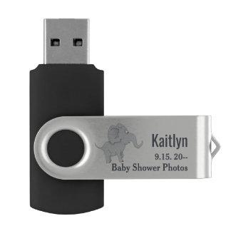 Clé USB Baby shower mignon de l'éléphant | pour honorer la