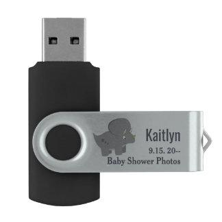Clé USB Baby shower mignon du dinosaure   pour honorer la