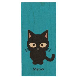 Clé USB Bande dessinée mignonne de meow de chat noir