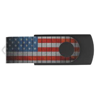 Clé USB Barrière peinte de drapeau américain