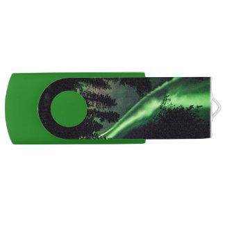 Clé USB Borealis de l'aurore en Laponie finlandaise