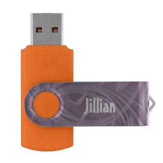 Clé USB Boucles au-dessus d'illustration pourpre