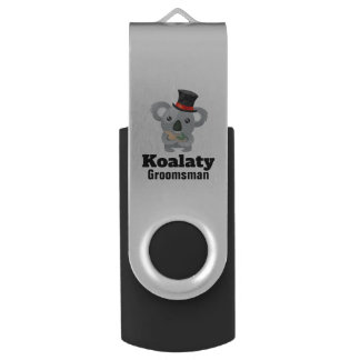 Clé USB Calembour mignon Koalaty Groomsman de koala