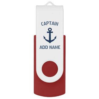 Clé USB Capitaine nautique fait sur commande de bateau