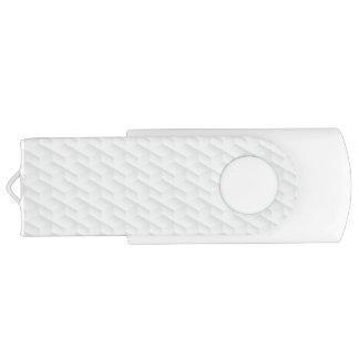 Clé USB Carré blanc de relief