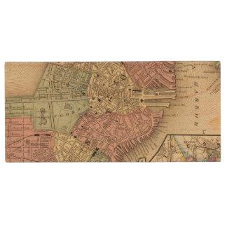 Clé USB Carte de Boston par Mitchell