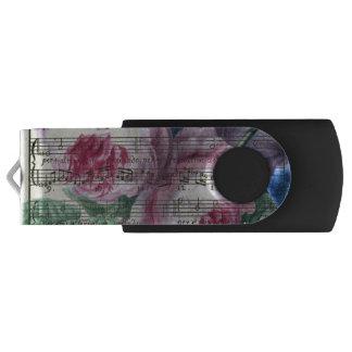 Clé USB Chansons florales