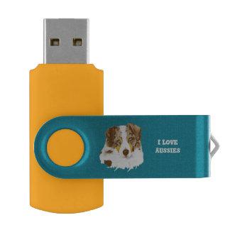 Clé USB Chien de berger australien rouge de Merle