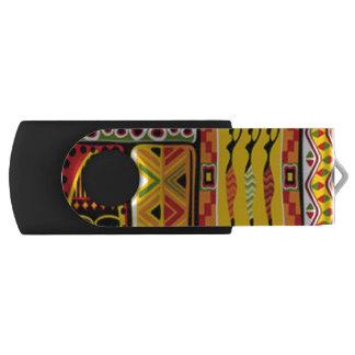 Clé USB Collage africain coloré d'impression de motif